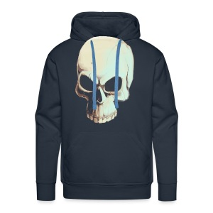 Light Alpha Skull Men's T-shirt - Men's Premium Hoodie