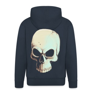 Light Alpha Skull Men's T-shirt - Men's Premium Hooded Jacket