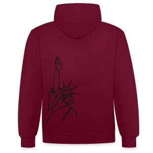 spray of liberty - Contrast hoodie