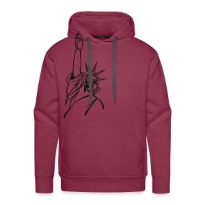 spray of liberty - Mannen Premium hoodie