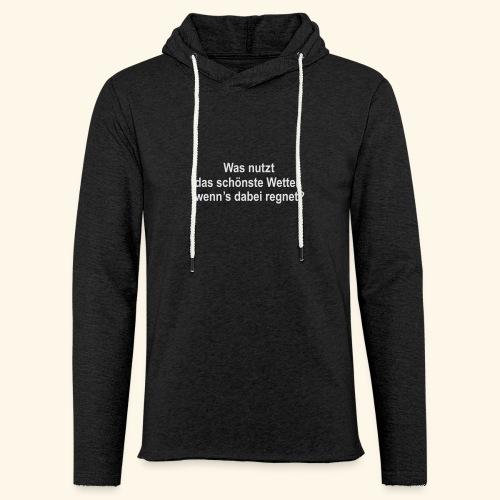 spassprediger.de presents: Wetter - Leichtes Kapuzensweatshirt Unisex