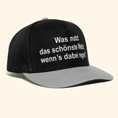 spassprediger.de presents: Wetter - Snapback Cap