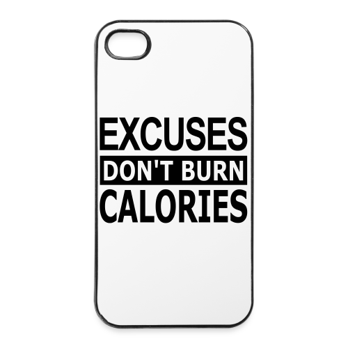 Excuses dont Burn Calories - iPhone 4/4s Hard Case