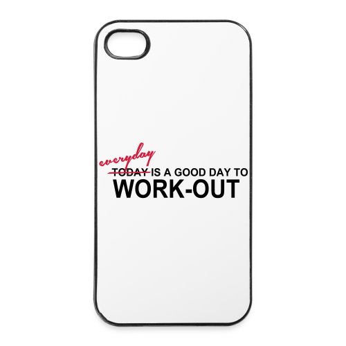 everyday is a good day to workout - iPhone 4/4s Hard Case