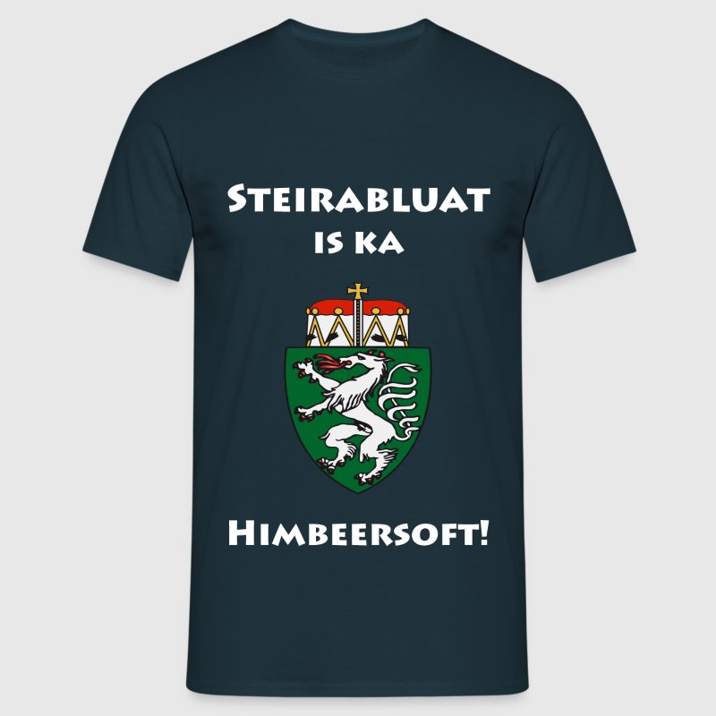 Steirabluat is ka Himbeersoft - Männer T-Shirt
