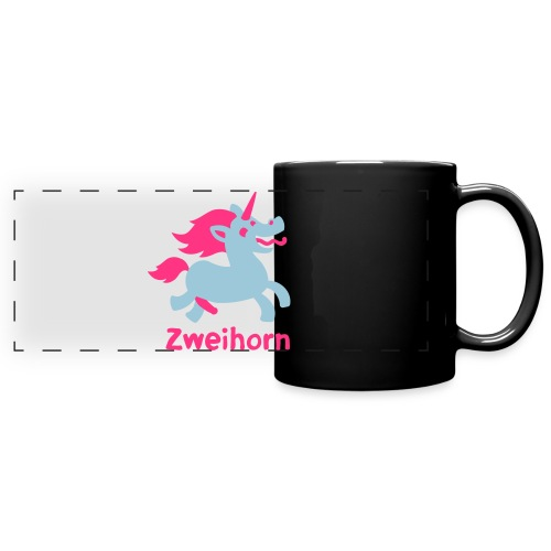 Männer Tasse Zweihorn - Panoramatasse farbig