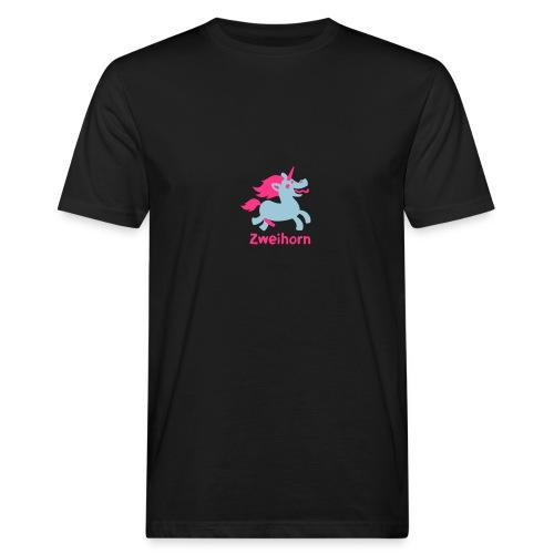 Männer Tasse Zweihorn - Männer Bio-T-Shirt
