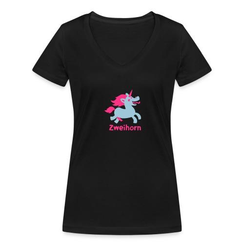 Männer Tasse Zweihorn - Frauen Bio-T-Shirt mit V-Ausschnitt von Stanley & Stella