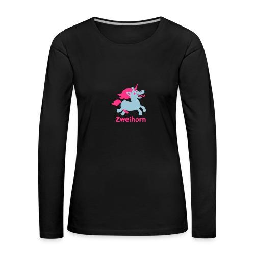 Männer Tasse Zweihorn - Frauen Premium Langarmshirt
