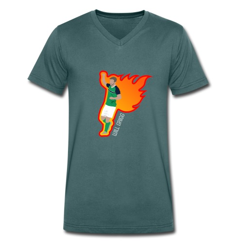 On Fire - Men's Organic V-Neck T-Shirt by Stanley & Stella