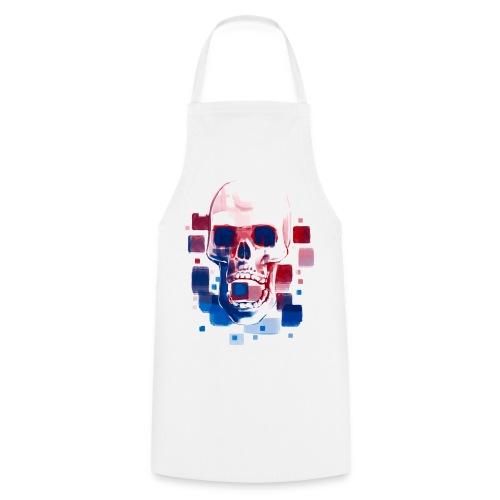 Cool Skull, Red & Blue - Men's premium T-shirt - Cooking Apron