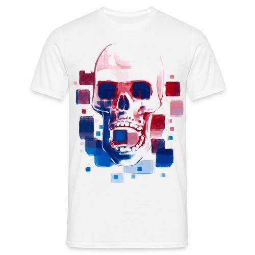 Cool Skull, Red & Blue - Men's premium T-shirt - Men's T-Shirt