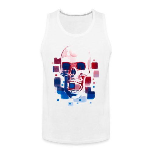 Cool Skull, Red & Blue - Men's premium T-shirt - Men's Premium Tank Top