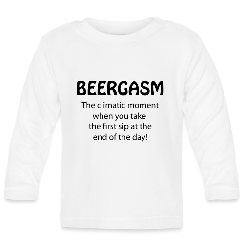 BEERGASM Beer Lover Beer Porn #HashHouseHarrier - Baby Long Sleeve T-Shirt