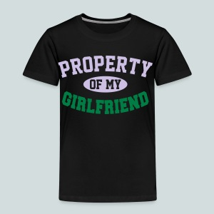 Property pf my Girlfriend - Premium-T-shirt barn