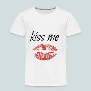 kiss me - Premium-T-shirt barn