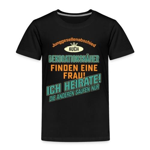 JGA BRAEUTIGAM - Dekorationsnäher - petrol strong orange - RAHMENLOS Berufe Geschenk - Kinder Premium T-Shirt