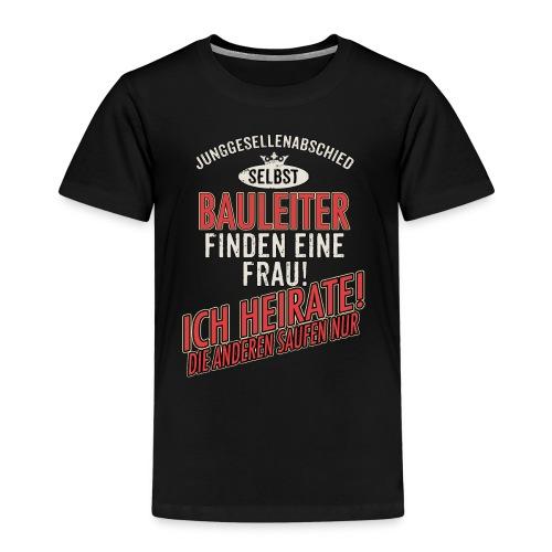 JGA BRAEUTIGAM - Bauleiter - US clean Style red grey - RAHMENLOS Berufe Geschenk - Kinder Premium T-Shirt