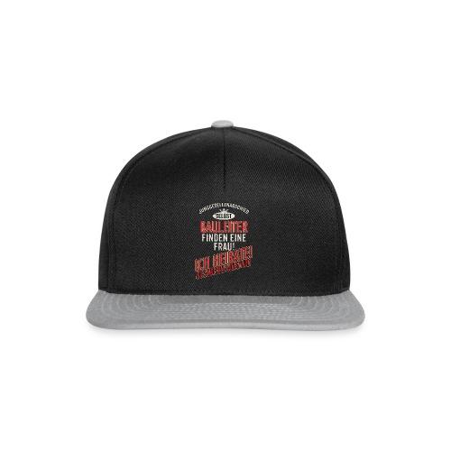 JGA BRAEUTIGAM - Bauleiter - US clean Style red grey - RAHMENLOS Berufe Geschenk - Snapback Cap