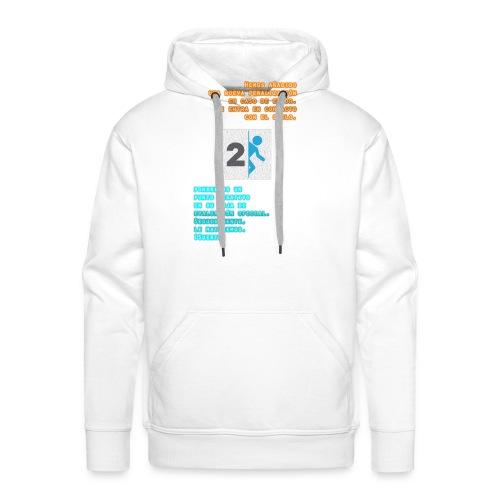 Portal T-Shirt - Sudadera con capucha premium para hombre