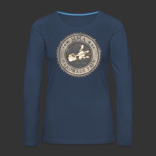 MMA -retro - Frauen Premium Langarmshirt