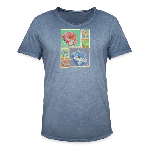 Vintage Rosen Collage - Männer Vintage T-Shirt