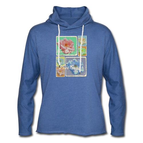 Vintage Rosen Collage - Leichtes Kapuzensweatshirt Unisex