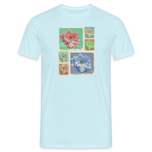 Vintage Rosen Collage - Männer T-Shirt