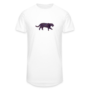 Jaguar in Stripes - Men's Long Body Urban Tee
