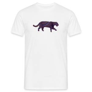 Jaguar in Stripes - Men's T-Shirt