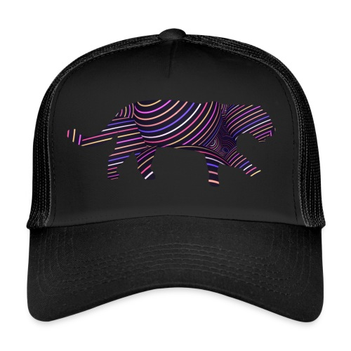 Jaguar in Stripes - Trucker Cap