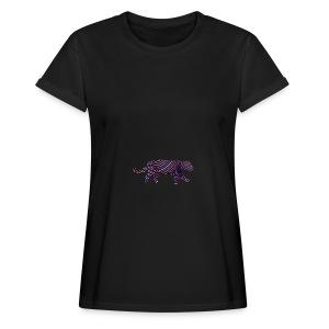 Jaguar in Stripes - Women's Oversize T-Shirt