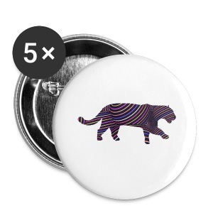 Jaguar in Stripes - Buttons small 25 mm