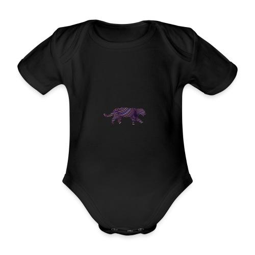 Jaguar in Stripes - Organic Short-sleeved Baby Bodysuit
