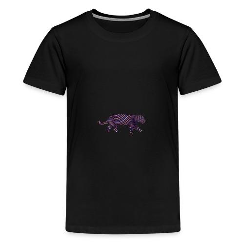 Jaguar in Stripes - Teenage Premium T-Shirt
