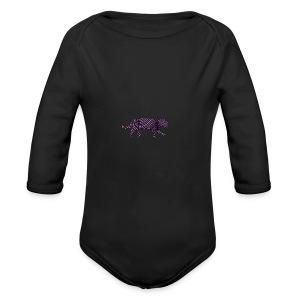 Jaguar in Stripes - Organic Longsleeve Baby Bodysuit