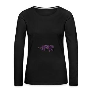 Jaguar in Stripes - Women's Premium Longsleeve Shirt