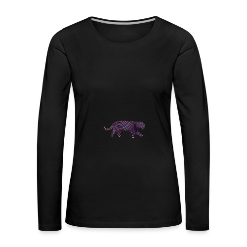 Jaguar in Stripes - Women's Premium Longsleeve Shirt