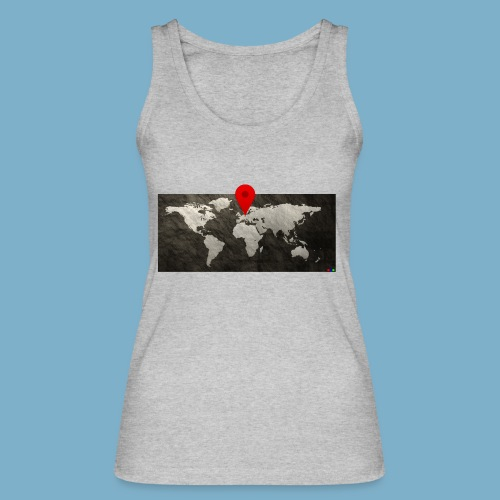 Weltkarte mit Pin - Standort - Frauen Bio Tank Top von Stanley & Stella