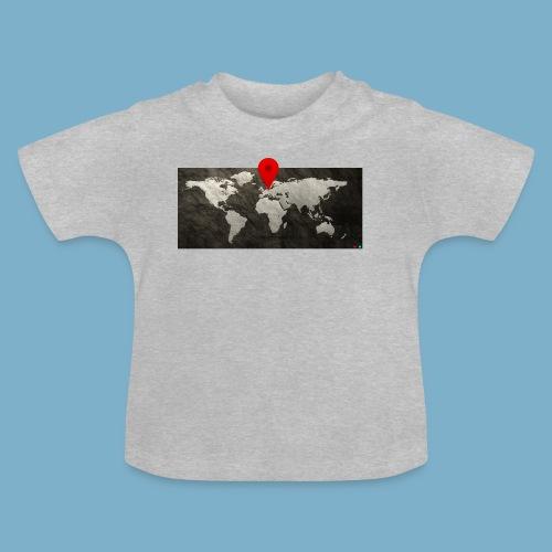 Weltkarte mit Pin - Standort - Baby T-Shirt