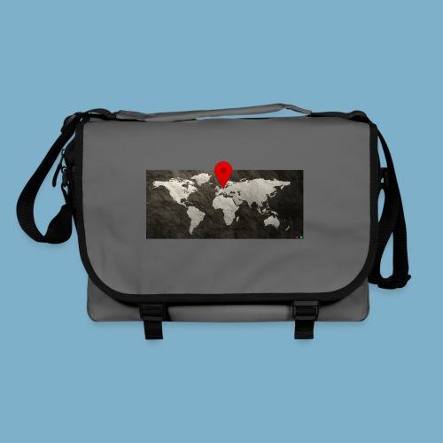 Weltkarte mit Pin - Standort - Umhängetasche