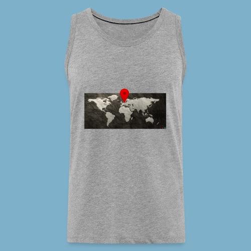 Weltkarte mit Pin - Standort - Männer Premium Tank Top