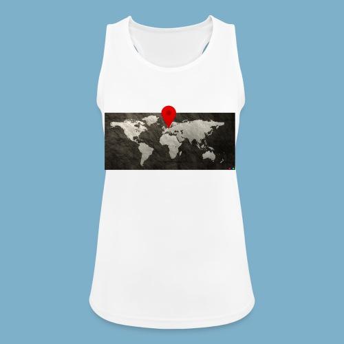 Weltkarte mit Pin - Standort - Frauen Tank Top atmungsaktiv