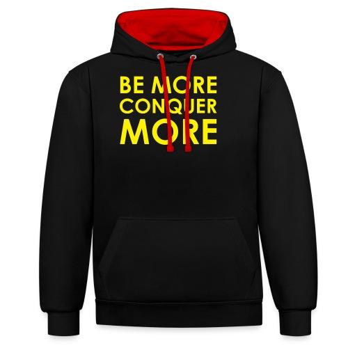 Men's T-Shirt - Black - Contrast Colour Hoodie