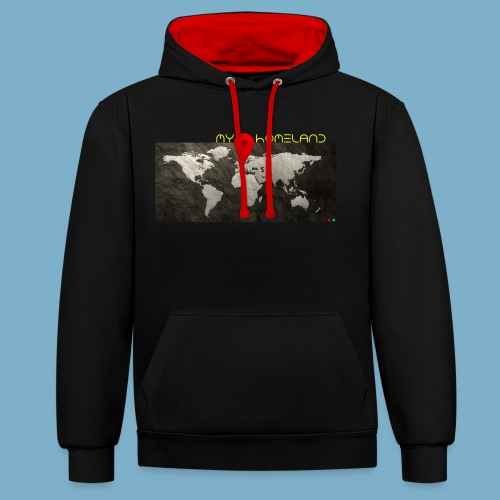 Homeland motiv  - Kontrast-Hoodie