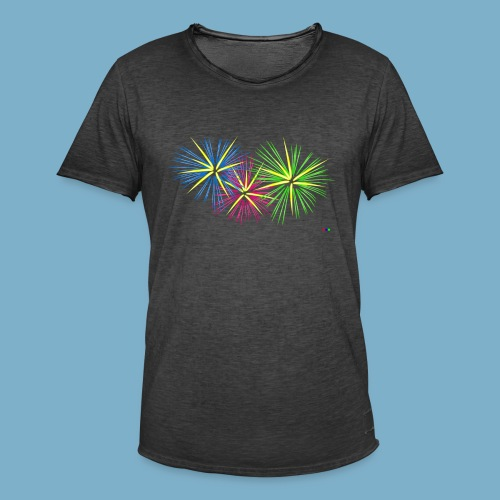 Fireworks Feuerwerk - Männer Vintage T-Shirt