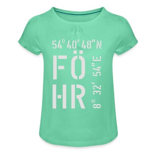 Föhr (weiss) - Mädchen-T-Shirt mit Raffungen