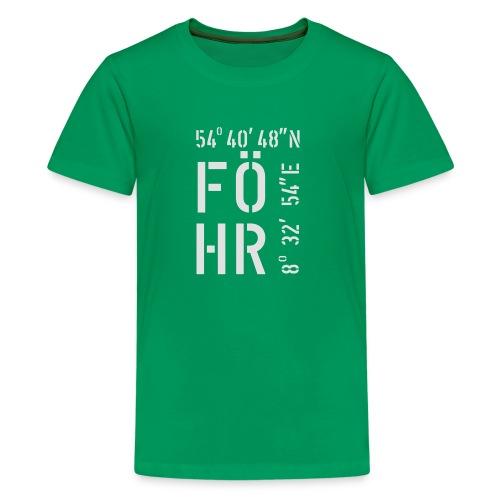Föhr (weiss) - Teenager Premium T-Shirt