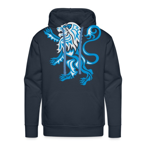 Alba Tribal Lion Rampant - Men's Premium Hoodie