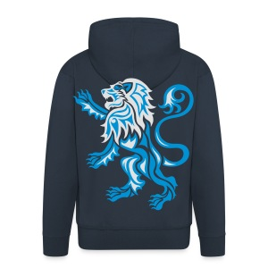 Alba Tribal Lion Rampant - Men's Premium Hooded Jacket